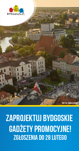 Konkurs na projekt linii gadżetów promocyjnych Miasta Bydgoszczy